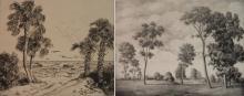 S. L. Margolies; W. R. Locke - 2 etchings