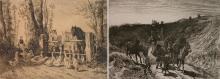 Peter Moran 2 etchings