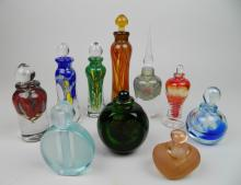 10 Contemporary art glass scent bottles