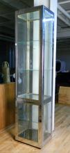 Chrome display cabinet