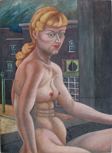 Kosh, Beni (American 1917-1993) Seated Nude in