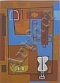 Storey, David (American 1948-) Untitled- linoleum, David Storey, Click for value