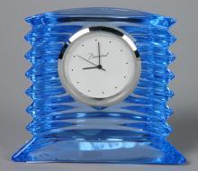 Baccarat blue crystal boudoir clock