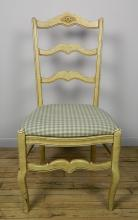 French country straight back side chair