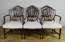 Set of 6 Hepplewhite style chairs