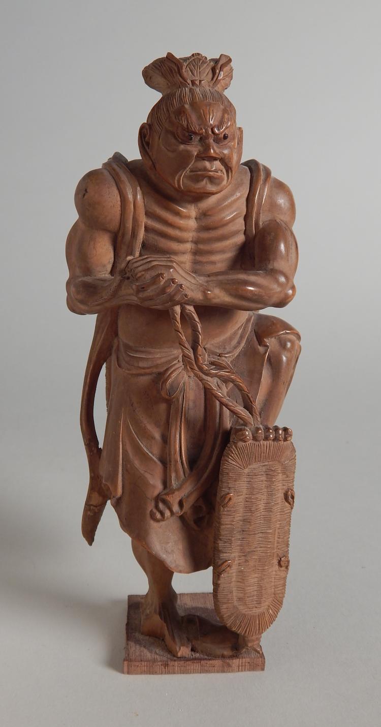 Japanese boxwood statue