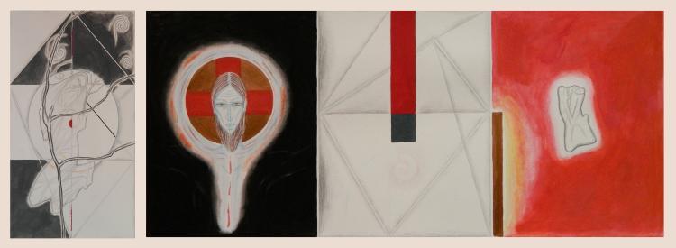 Audra Skuodas 2 works on paper