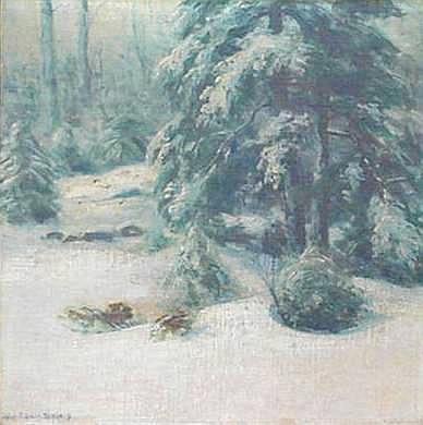 John Calvin Stevens (American 1855-1940) Winter