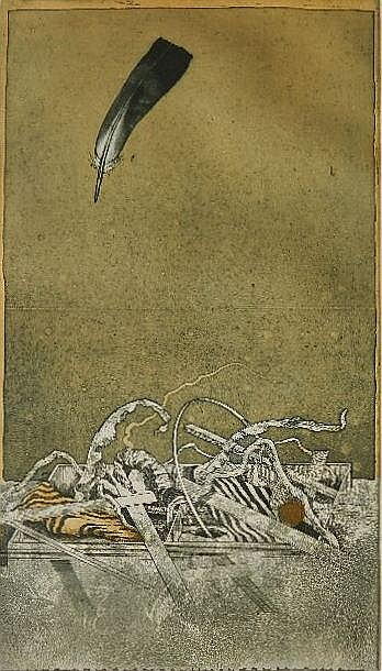 Hiroshi Asada etching