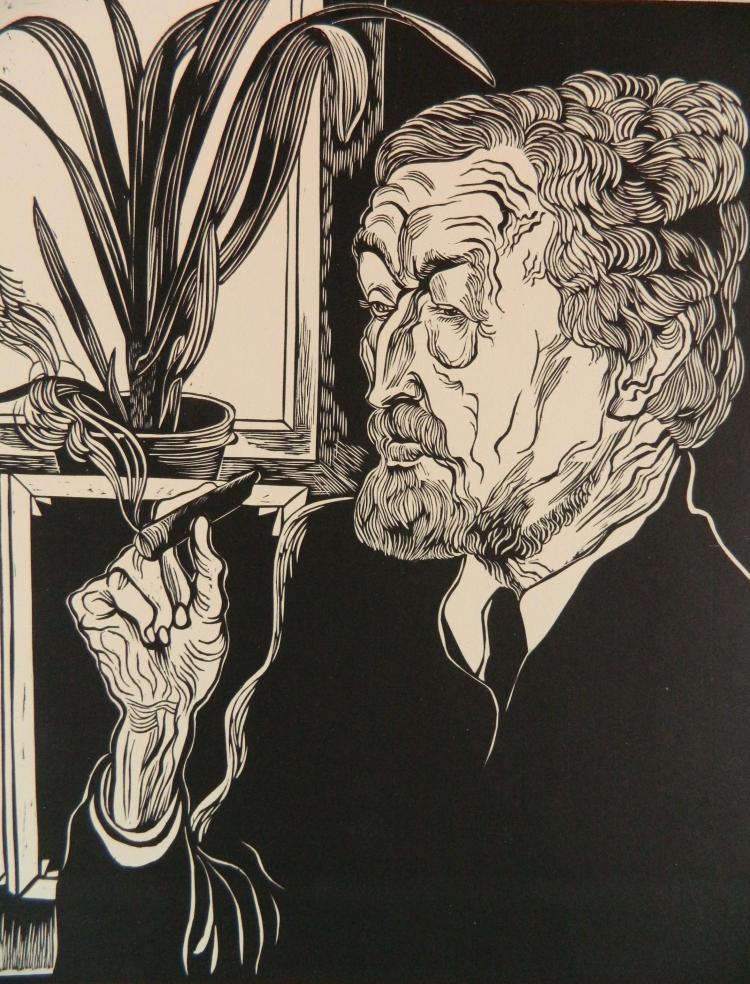 Conrad Felixmuller woodcut
