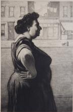 Martin Lewis etching and aquatint