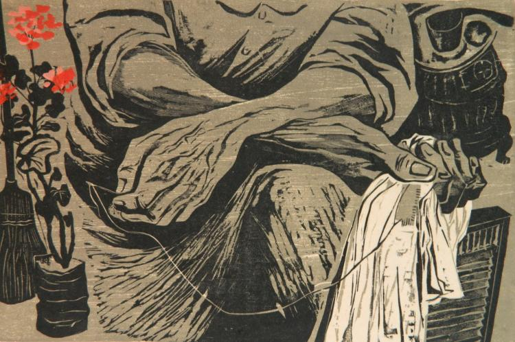 Winifred Milius Lubell woodcut