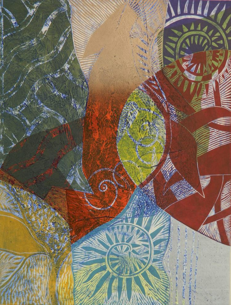David Jansheski collograph and woodcut