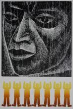 Elizabeth Catlett woodcut