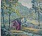 F. Leslie Thompson- ''18th c. Grist Mill,, Flooyd Leslie Thompson, Click for value
