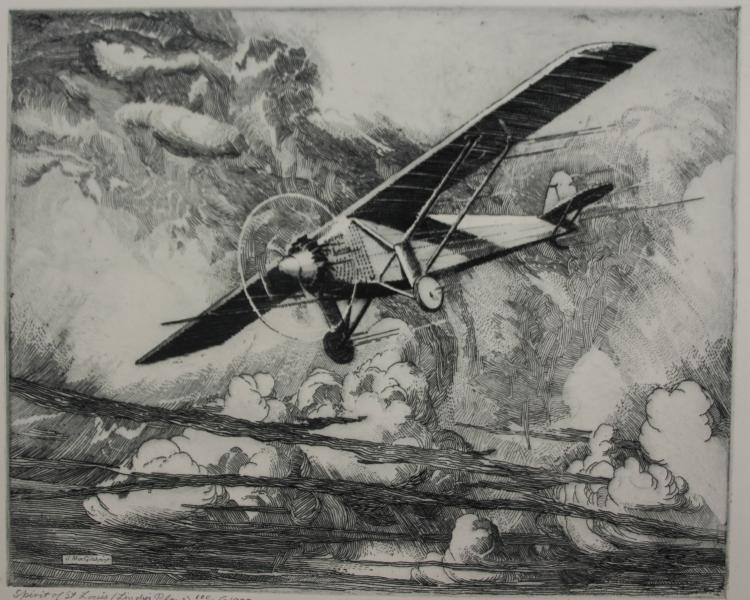 John Mac Gilchrist etching and drypoint