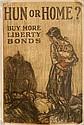 WWI Poster - ''Hun or Home, Buy More Liberty Bonds''