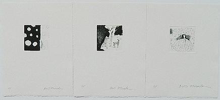 Aki Kuroda 3 etchings