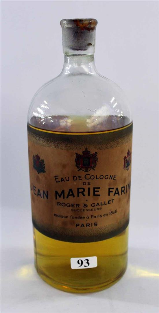 a french cologne bottle 39 jean marie farina 39 dated 1900 un. Black Bedroom Furniture Sets. Home Design Ideas