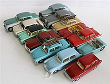 THIRTEEN SPOT-ON MODEL CARS, INCLUDING 'FORD ANGLIA' AND 'BENTLEY SALOON'. (13)