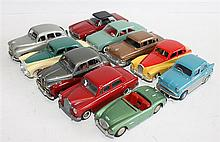TEN VARIOUS MODEL CARS, INCLUDING LANSDOWNE AND DINKY TOYS. (10).