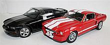 TWO 'FORD' MODELS, SHELBY COLLECTIBLES '1967 GT500E ELANOR', AND AUTOART 'FORD MUSTANG GT'. (2)