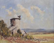 W. H. HIBBLE (Australia, Working 1960s), ''Silo'', oil on board, signed lower right, and titled to back, 39 x 48.5cm.