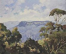 RHYS WILLIAMS (Australia, 1894-1976), ''Mount Solitary'', oil on board, signed lower right, 46 x 56cm.