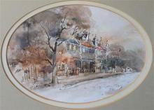 HELEN GOLDSMITH, ''Glebe Terraces'', watercolour, signed and dated 1988 lower right, 20 x 15cm.