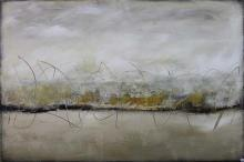 DINAH WAKEFIELD, ''White Desert'', oil and acrylic on canvas, signed lower right and dated 03'', 150 x 110cm.