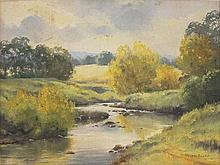 MELVIN DUFFY (Australia, 1930-.), ''Autumn Crookwell River'', oil on canvas, signed lower right, 44 x 59cm.