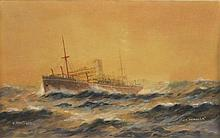 JOHN C. ALLCOT (Britain, Australia, 1888-1973), ''S.S. Benalla'', watercolour, signed and dated 1922 lower left and titled lower right.