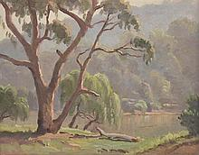 ERIK LANGKER (Australia 1898-1982), ''Spring Morning'', oil on board, signed lower right and titled to back, 28 x 35cm.