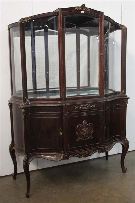 A Louis Xv Style Display Case The One Door Glass Cabinet Or