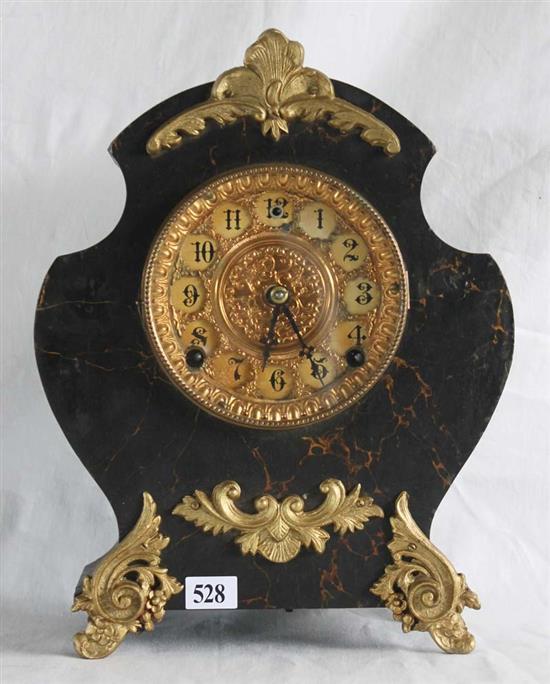 A rococo style mantel clock decorative case of marble imita for Rococo decorative style