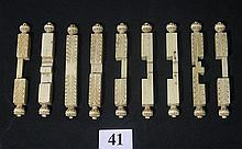 A NINE PIECE 19th CENTURY IVORY BURR PUZZLE, 'Lu Ban Lock'. lt. 8cm.