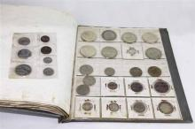 ALBUM COMPRISING A COLLECTION OF SOUTH AFRICA COINS FROM 1923 TO 1960, GRADING OVERALL G/VF, including a 5 shilling 1892 F/VF, 5 shi...