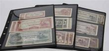 ALBUM COMPRISING A COLLECTION OF DOCUMENTS AND STAMPS FROM 1918-195, including Japanese Government issued dollar and other foreign b...