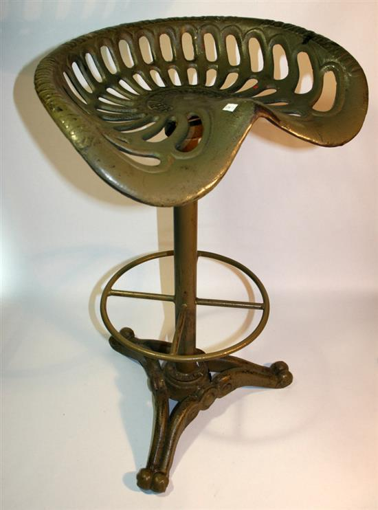 A VINTAGE BAKER amp HAMILTON TRACTOR SEAT BAR STOOL swivels o : H3937 L113091627 from www.invaluable.com size 550 x 742 jpeg 41kB