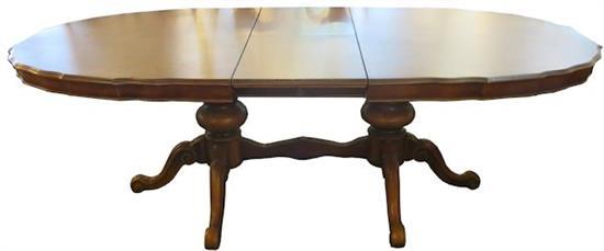 An Extension Continental Style Dining Table In Walnut To S