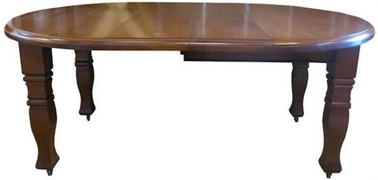 A Queensland Maple Two Leaf Extension D End Dining Table Wi