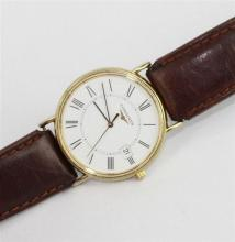 A LONGINES GENTS WRISTWATCH, stainless steel, white dial with date at 3o'clock, numbered 30627021 and L4.720.2, non original leather..