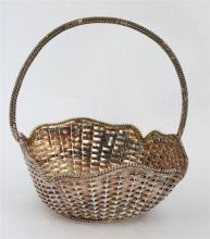 A MEXICAN STERLING SILVER BASKET, Alfredo Villasana, Taxco. Diameter 15cm. Weight 239g.