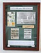 TAYLOR JOINS BRADMAN Includes:-  Pictures of Don Bradman and Mark Taylor raising their bats to acknowledge the plaudits of the crowd...