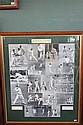 AUSTRALIAN CAPTAINS, BRADMAN TO WAUGH 1936 - 2000 Fine collage of Australian Test Captains from Bradman to Waugh.  Array of black an...
