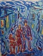 †Sybil Craig (1901-1989) Untitled (Three Figures in the Street), Sybil Craig, Click for value
