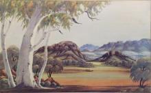 CLAUDE PANNKA, (1928-72), 'Australian Landscape', watercolour, signed lower right, 32.5 x 52cm.