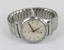 A VINTAGE STAINLESS STEEL MAJUVY WATCH