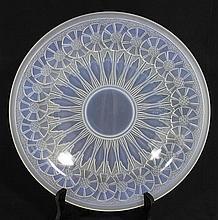 AN ETLING ART DECO GLASS CHARGER. dia 30.5cm.