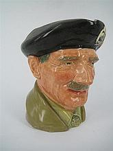 A ROYAL DOULTON CHARACTER JUG 'Field Marshal Montgomery'.